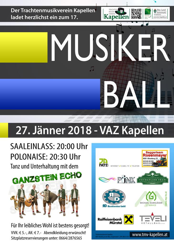 Einladung Musikerball 2018